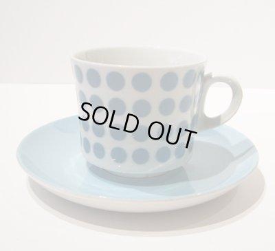 画像1: 北欧食器 Arabia アラビア Stencil ステンシル Polka Dot (ポルカドット) コーヒーカップ&ソーサー