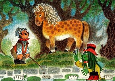 画像1: ズデネック・ミレル ポストカード(馬使いのシェイトロチカの旅-1)